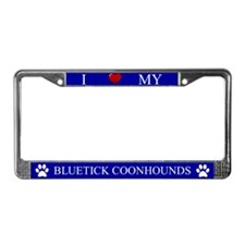 Blue I Love My Bluetick Coonhounds Frame