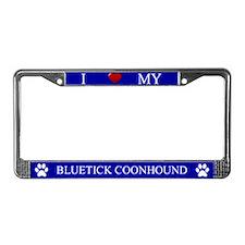Blue I Love My Bluetick Coonhound Frame