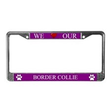 Purple We Love Our Border Collie Frame