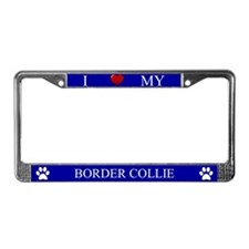 Blue I Love My Border Collie Frame
