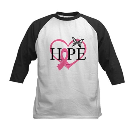Breast Cancer Heart Decor Kids Baseball Jersey