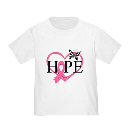 Breast Cancer Heart Decor Toddler T-Shirt