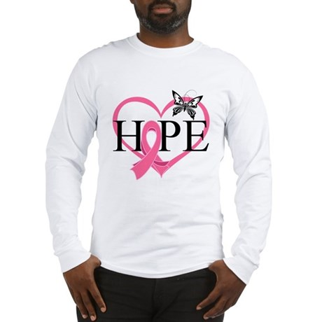 Breast Cancer Heart Decor Long Sleeve T-Shirt