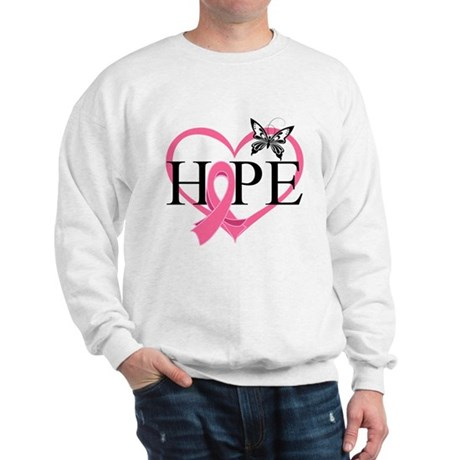 Breast Cancer Heart Decor Sweatshirt
