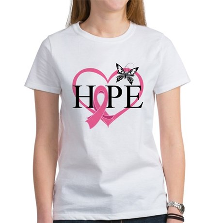 Breast Cancer Heart Decor Women's T-Shirt
