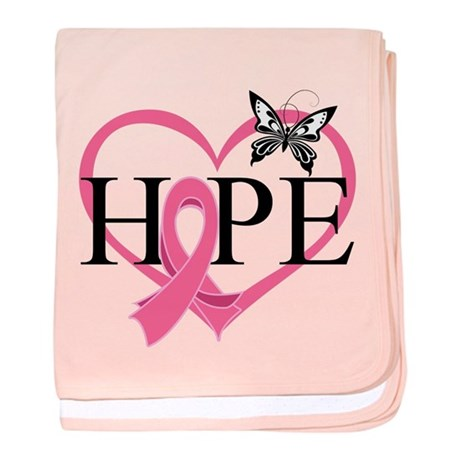 Breast Cancer Heart Decor baby blanket