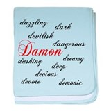 D... is for Damon baby blanket