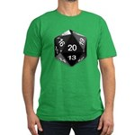 d20 Men's Fitted T-Shirt (dark)