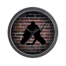 Hockey Goalie Wall Clock