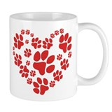 Paws Heart Coffee Mug