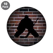 "Hockey Goalie 3.5"" Button (10 pack)"
