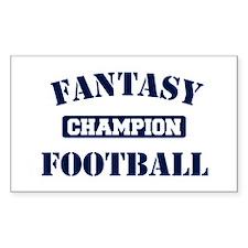 Fantasy Football Champion Decal