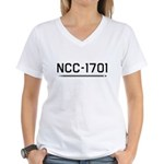 NCC-1701 Women's V-Neck T-Shirt