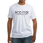 NCC-1701 (worn) Fitted T-Shirt