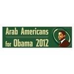 Arab Americans for Obama bumper sticker