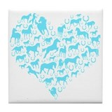 Horse Heart Art Tile Coaster