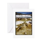 Yellowstone Mammoth Hot Springs Greeting Cards (Pa