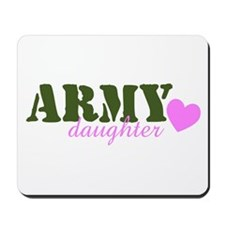 Army Daughter Green & Heart Mousepad