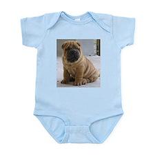 Cute Sharpei puppies Infant Bodysuit