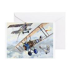 WWI RFC RAF Sopwith Camel airplane Greeting Card