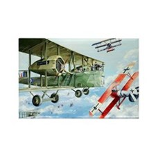 WWI RAF Handley Page Rectangle Magnet (10 pack)