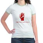 Communist Revolution Fist Jr. Ringer T-Shirt