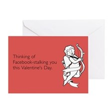 Facebook Stalking Greeting Card