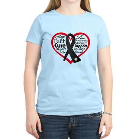 Skin Cancer Heart Women's Light T-Shirt