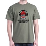 Sock Monkeys Rock Dark T-Shirt