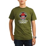 Sock Monkeys Rock Organic Men's T-Shirt (dark)