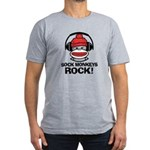Sock Monkeys Rock Men's Fitted T-Shirt (dark)