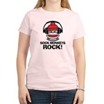 Sock Monkeys Rock Women's Light T-Shirt