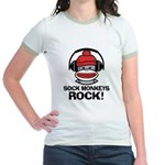 Sock Monkeys Rock Jr. Ringer T-Shirt