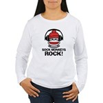Sock Monkeys Rock Women's Long Sleeve T-Shirt