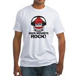 Sock Monkeys Rock Fitted T-Shirt