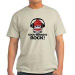 Sock Monkeys Rock Light T-Shirt