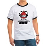 Sock Monkeys Rock Ringer T