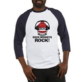 Sock Monkeys Rock Baseball Jersey