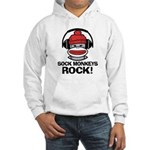 Sock Monkeys Rock Hooded Sweatshirt