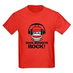Sock Monkeys Rock Kids Dark T-Shirt