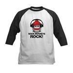Sock Monkeys Rock Kids Baseball Jersey