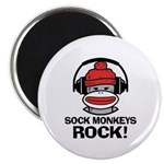 Sock Monkeys Rock Magnet