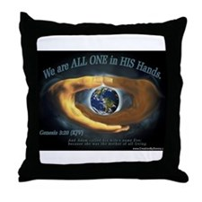 We are ALL ONE in HIS Hands Throw Pillow