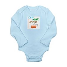 Cry Eat Poop Sleep Repeat (Long s.Infant bodysuit)