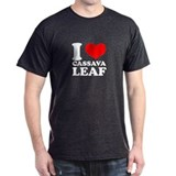 I Love Cassava Leaf Black T-Shirt