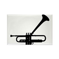 Dizzy's Horn Dark Silhouette Rectangle Magnet