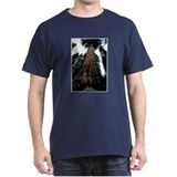 Sequoia National Park Tree (Front) Black T-Shirt