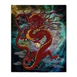 Cute Chinese dragon Throw Blanket