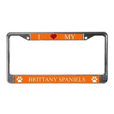Orange I Love My Brittany Spaniels Frame