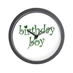 St. Patricks Day Birthday Boy Wall Clock